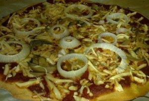 פיצה טבעונית על בסיס קמח מלא