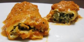 קנלוני ברוטב רוזה עשיר: אוכל איטלקי טבעוני