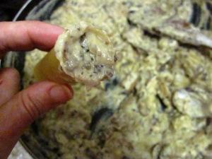 קנלוני טבעוני שמנת פטריות