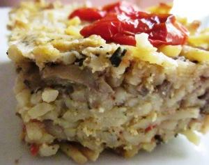 פשטידת פסטה טבעונית פרווה ללא ביצים