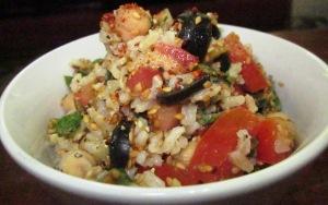 מתכון לסלט טבעוני מעולה מאורז מלא