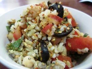 סלט בלי שמן מאורז מלא