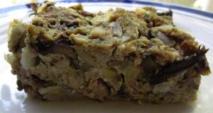 פשטידת פטריות ובצל טבעונית פרווה בלי ביצים מהירה ופשוטה