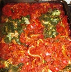לזניה תרד ועגבניות טבעונית